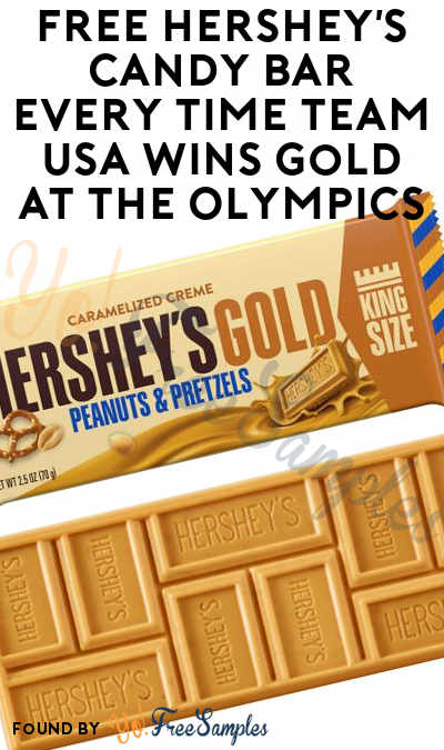 FREE Hershey's Candy Bar Every Time Team USA Wins Gold At The Olympics