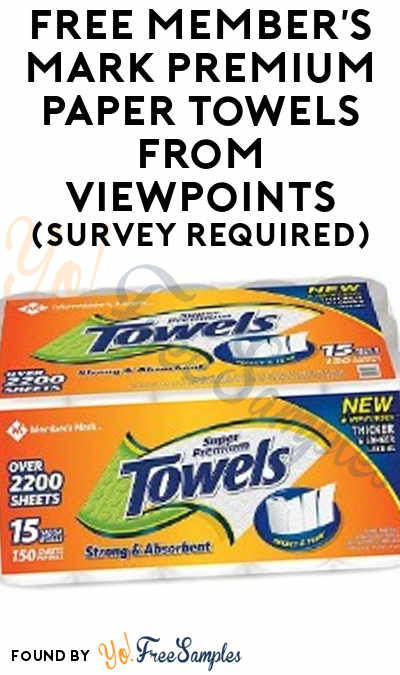 FREE Member's Mark Premium Paper Towels From ViewPoints (Survey Required)