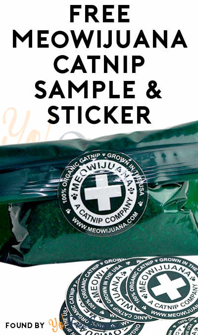 FREE Meowijuana Catnip Sample & Sticker