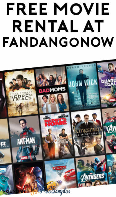 FREE Movie Rental At FandangoNOW