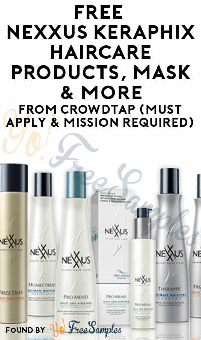 FREE Nexxus Keraphix Haircare Products, Mask, Gel Treatment & More From CrowdTap (Must Apply & Mission Required)