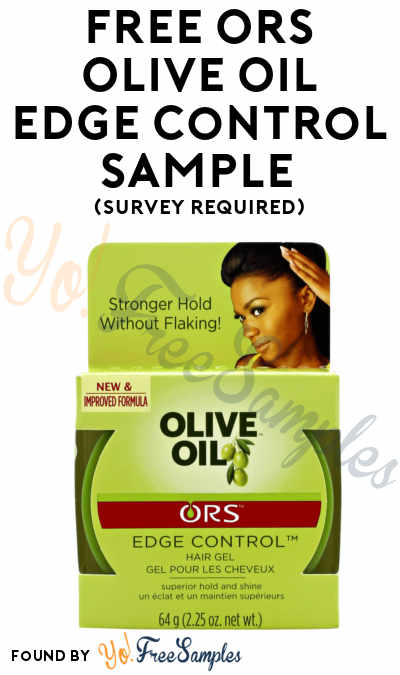 FREE ORS Olive Oil Edge Control Sample (Survey Required)