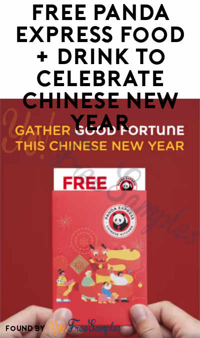 TODAY ONLY 1/25: FREE Panda Express Red Envelope With FREE Food + Drink To Celebrate Chinese New Year