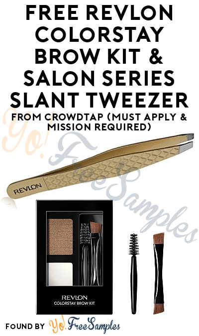FREE Revlon ColorStay Brow Kit & Salon Series Slant Tweezer From CrowdTap (Must Apply & Mission Required)