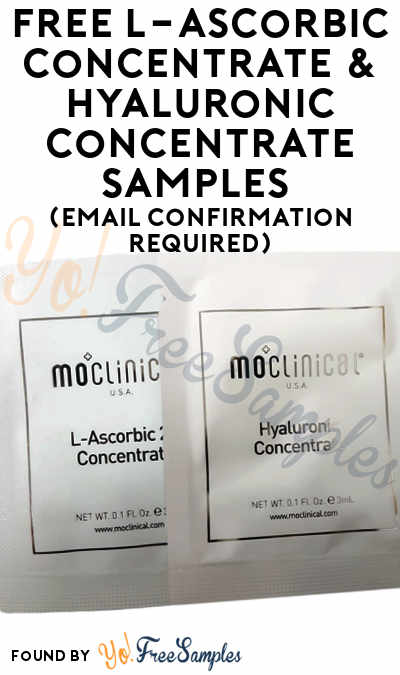 FREE Skincare Jungle L-Ascorbic Concentrate & Hyaluronic Concentrate Samples (Email Confirmation Required)