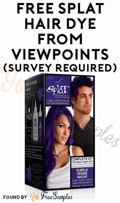 FREE Splat Hair Dye From ViewPoints (Survey Required)
