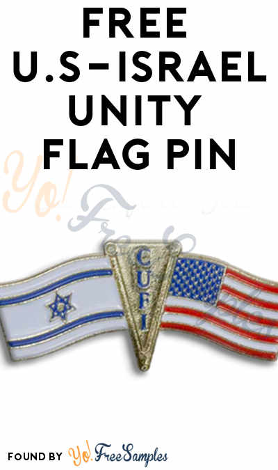 FREE U.S-Israel Unity Flag Pin