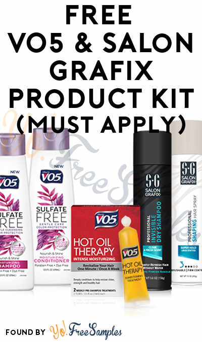 FREE VO5 & Salon Grafix Product Kit With 5 Full-Size Products To Review At Digitry (Survey Required)