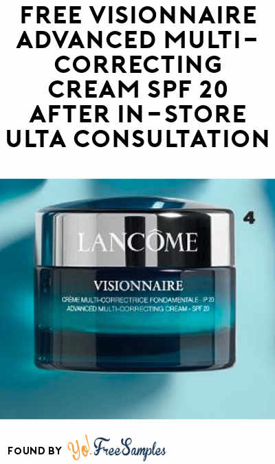 FREE Visionnaire Advanced Multi-Correcting Cream SPF 20 After In-Store Ulta Consultation