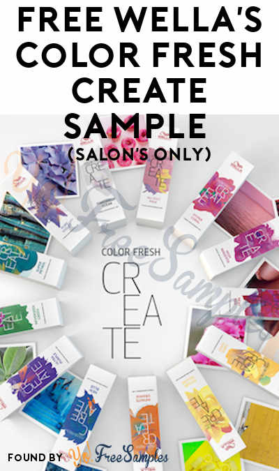 FREE Wella's Color Fresh Create Sample (Salon's Only)