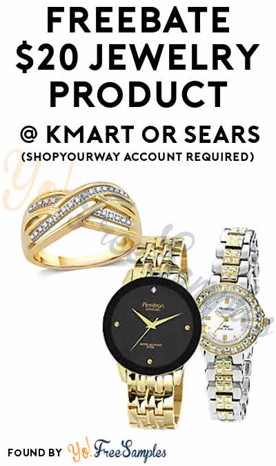 FREEBATE $20 Jewelry Product At Kmart or Sears (ShopYourWay Account Required)