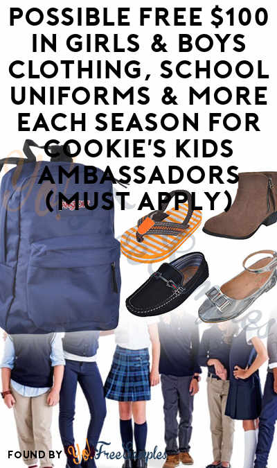 Possible FREE $100 In Girls & Boys Clothing, School Uniforms & More Each Season For Cookie's Kids Ambassadors (Must Apply)
