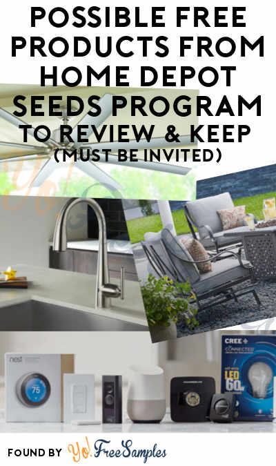Possible FREE Products From Home Depot Seeds Program To Review & Keep (Must Be Invited)