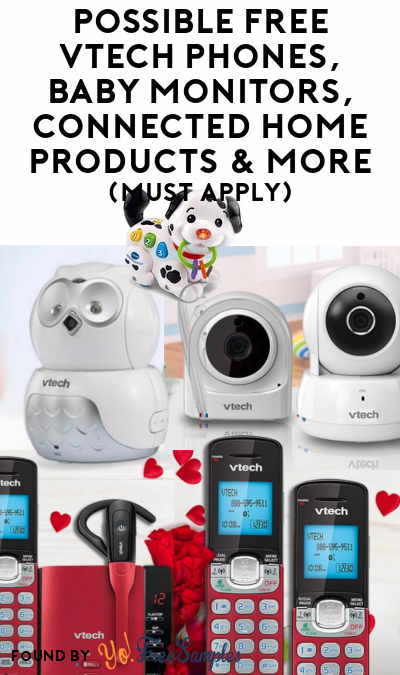 Possible FREE Vtech Phones, Baby Monitors, Connected Home Products & More (Must Apply)