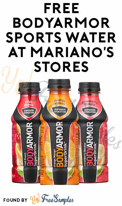 TODAY ONLY: FREE BodyArmor Sports Water At Mariano's Stores (IL Only)