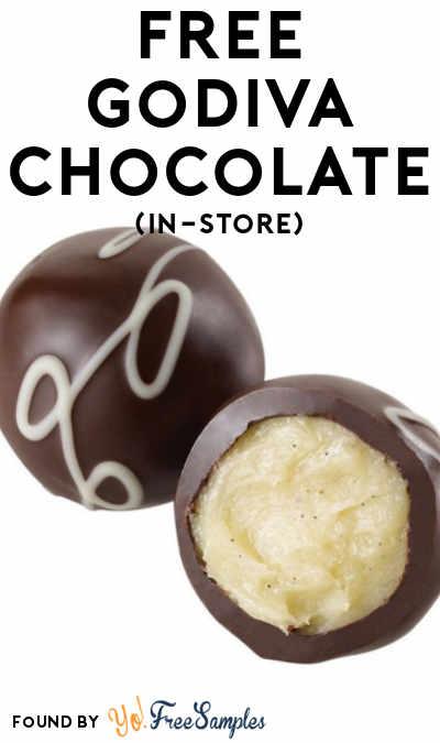 TODAY (2/11) ONLY: FREE French Vanilla Dark Chocolate Truffle At Godiva Stores 2/11