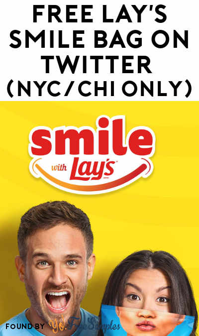 FREE Lay's Smile Bag On Twitter (Select Areas Only)
