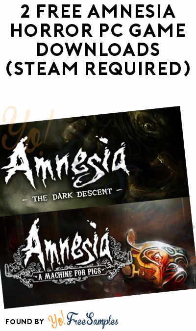2 FREE Amnesia Horror PC Game Downloads (Steam Required)