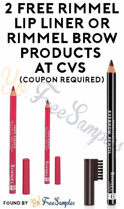 2 FREE Rimmel Lip Liner or Rimmel Brow Products + Profit At CVS (Coupon Required) [Verified]