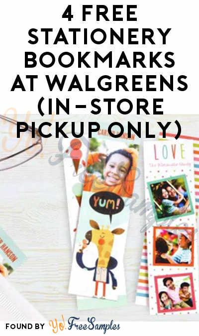 TODAY (3/10) ONLY: 4 FREE Stationery Bookmarks At Walgreens (In-Store Pickup Only)
