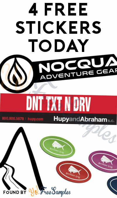 4 FREE Stickers Today: NOCQUA Stickers, DNT TXT N DRV Bumper Sticker, Possible Creek Mountain Gear Stickers & Southern Lure Stickers