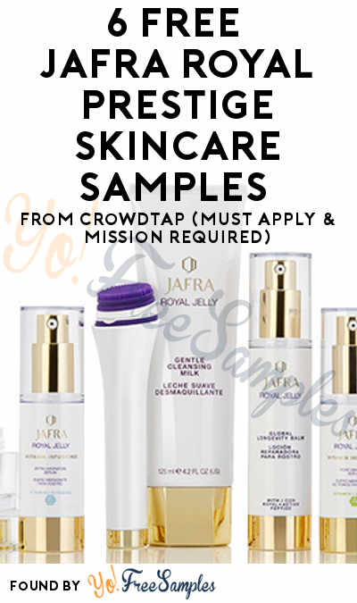 6 FREE JAFRA Royal Prestige Skincare Samples From CrowdTap (Must Apply & Mission Required)
