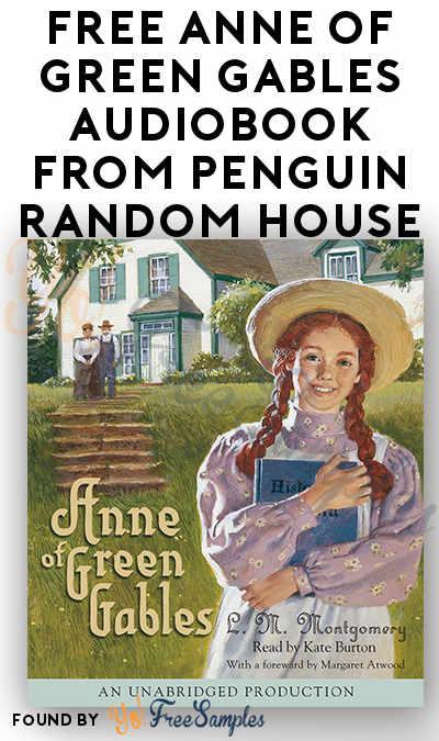 FREE Anne of Green Gables Audiobook From Penguin Random House