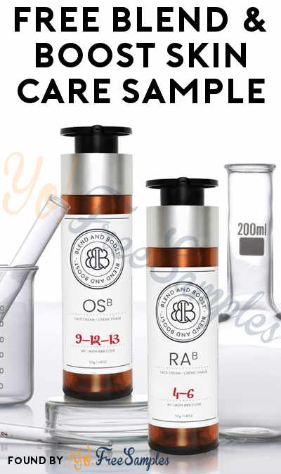 FREE Blend & Boost Skin Care Product Sample