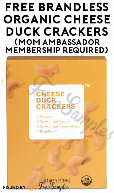 FREE Brandless Organic Cheese Duck Crackers (Mom Ambassador Membership Required)