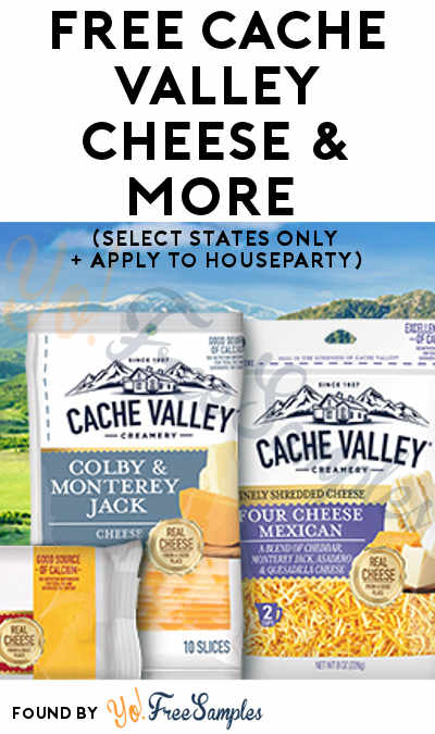 FREE Cache Valley Cheese & More (Select States Only + Apply To HouseParty)