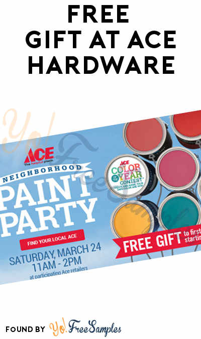 TODAY ONLY: FREE Gift At Ace Hardware On 3/24 From 11AM-2PM