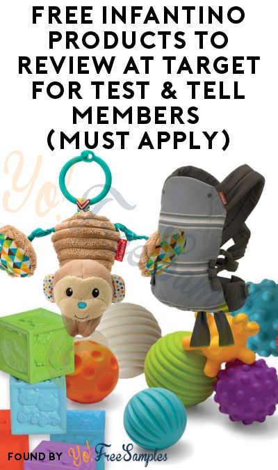 FREE Infantino Products To Review At Target For Test & Tell Members (Must Apply)