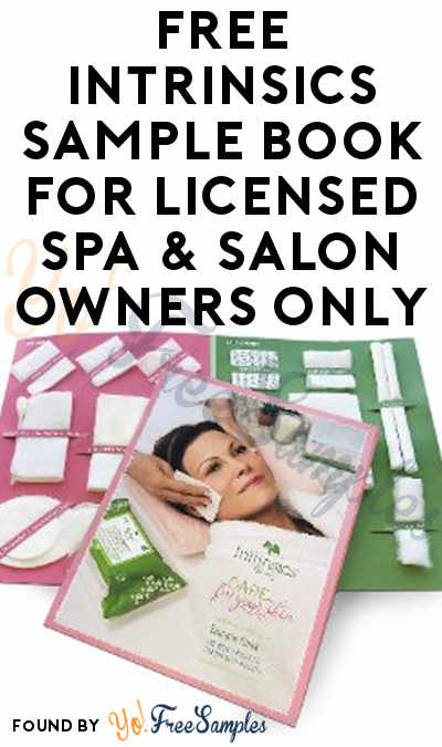 FREE Intrinsics Sample Book For Licensed Spa & Salon Owners Only
