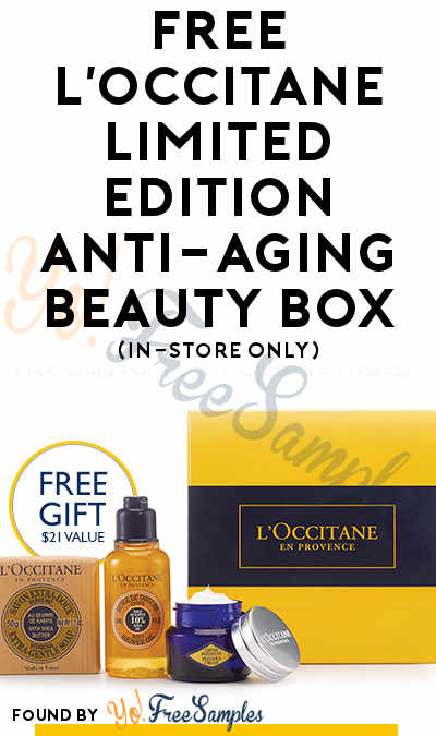 FREE L'Occitane Limited Edition Anti-Aging Beauty Box (In-Store Only)