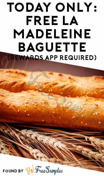 TODAY ONLY: FREE La Madeleine Baguette (Rewards App Required)