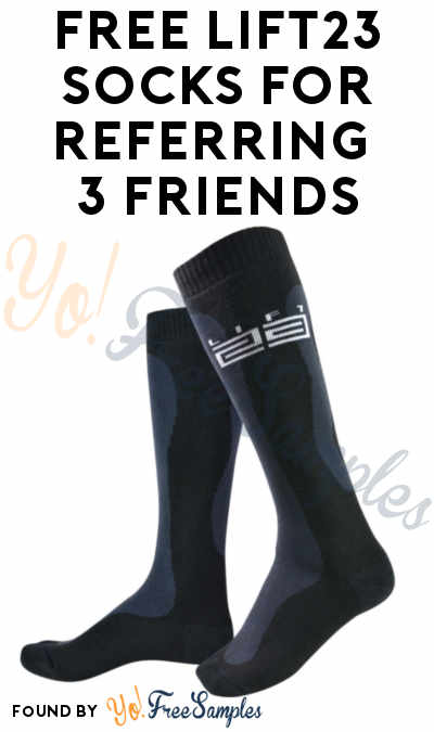 FREE Lift23 Socks For Referring 3 Friends