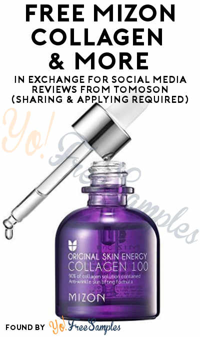 FREE MIZON Collagen & More In Exchange For Social Media Reviews From Tomoson (Sharing & Applying Required)