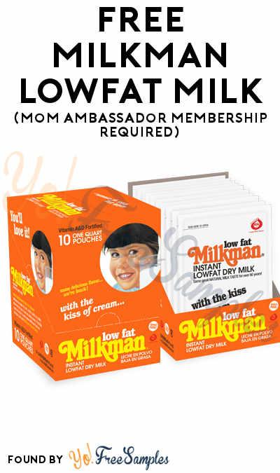 FREE Milkman Lowfat Milk (Mom Ambassador Membership Required)