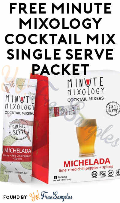 FREE Minute Mixology Cocktail Mix Single Serve Packet