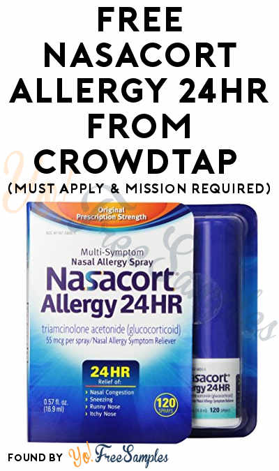 FREE Nasacort Allergy 24HR From CrowdTap (Must Apply & Mission Required)