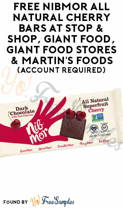 FREE NibMor All Natural Cherry Bars At Stop & Shop, Giant Food, Giant Food Stores & Martin's Foods (Account Required)