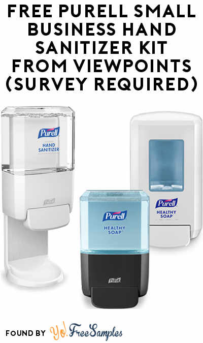FREE PURELL Small Business Hand Sanitizer Kit From ViewPoints (Survey Required)