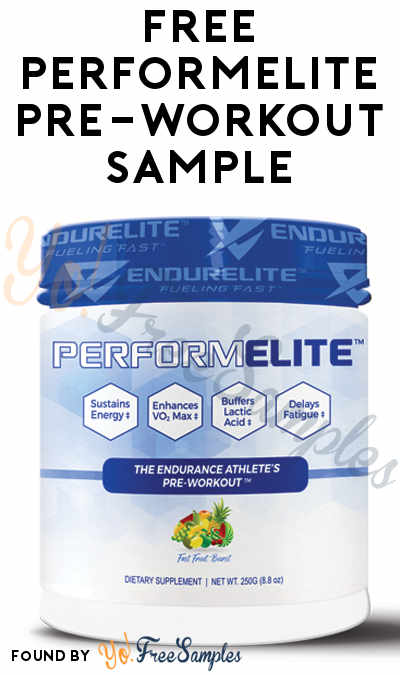FREE PerformElite Pre-Workout Sample