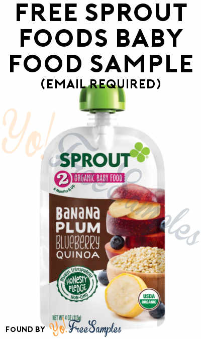 FREE Sprout Foods Baby Food Sample (Email Required)