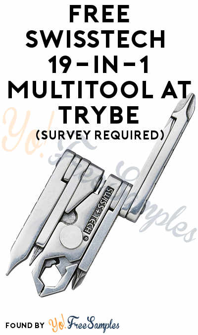 FREE SwissTech 19-in-1 Multitool At Trybe (Survey Required)