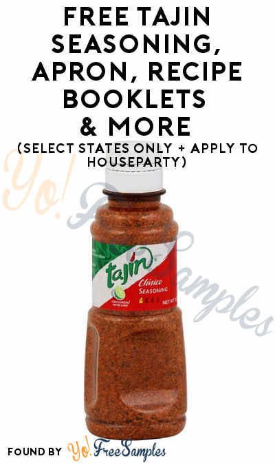 FREE TAJIN Seasoning, Apron, Recipe Booklets & More (Select States Only + Apply To HouseParty)