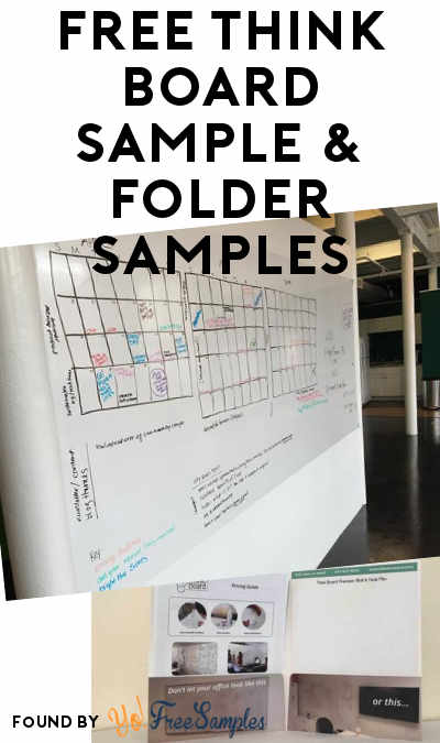 Free Think Board Sample  Folder Samples Verified Received By Mail