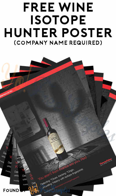 FREE Wine Isotope Hunter Poster (Company Name Required)