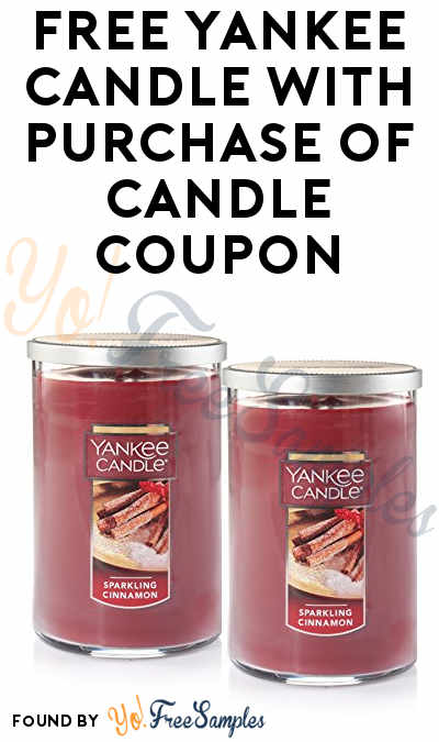 FREE Yankee Candle With Purchase Of Candle Coupon