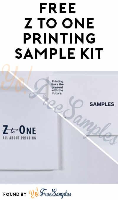 FREE Z to One Printing Sample Kit
